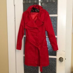 Lightweight red coat